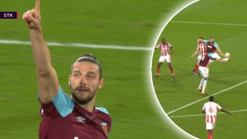 Carroll räddade West Ham - efter läckra volleyskottet