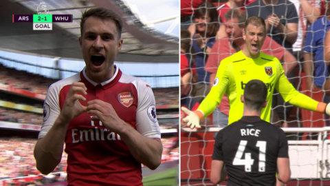 """Ramsey fick måljubla - efter stora tabben: """"Det där håller inte"""""""