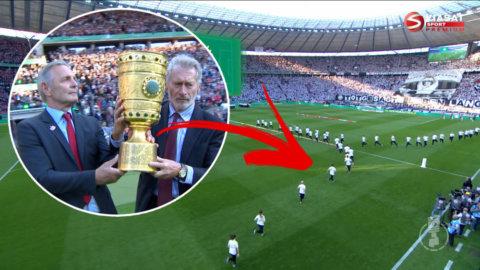 Funktionärernas mardrömsstart i cupfinalen fångas av tv-kamerorna