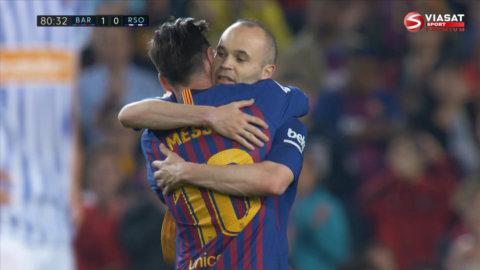Känslosamma bilder: Här avslutar Iniesta Barcelona-karriären