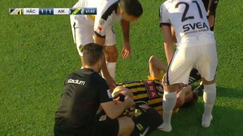 """Lundberg skadad efter Yasins tackling: """"Kan argumentera för ett rött"""""""