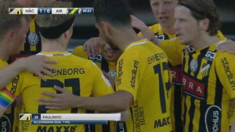 Paulinho placerar in 1-0 för Häcken