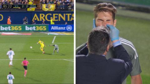 Real-debut för Luca Zidane - avslutade matchen med supertabbe