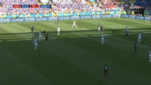 Agüero ger Argentina ledningen mot Island