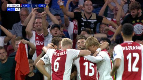 Ajax imponerande CL-premiär - bjöd fansen på målfest