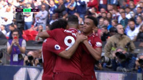 Liverpool utökar ledningen – Firmino trycker dit bollen