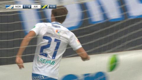 Thern sätter 1-0 mot AIK