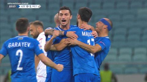 Höjdpunkter: Oavgjort mellan Azerbajdzjan och Malta