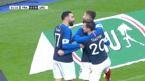 Höjdpunkter: Girouds straff gav fransk seger mot Uruguay