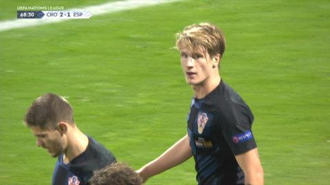 Jedvaj nickar in 2-1 för Kroatien
