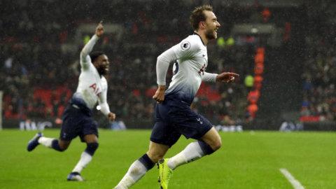 Eriksen räddade Tottenham efter sömnig tillställning