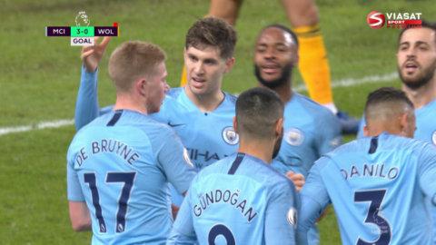 De Bruyne med vass ''assist'' - leder City mot tre poäng