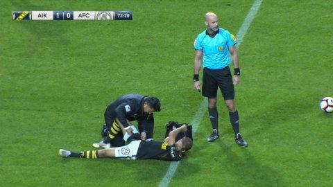 AIK:s smäll - Sundgren tvingades kliva av