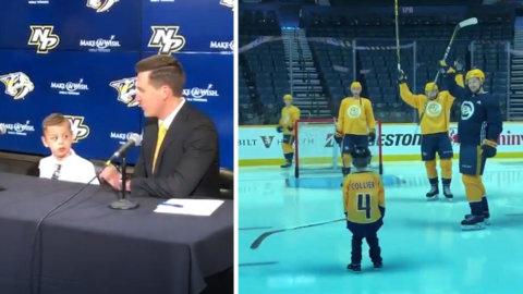Fantastiska gesten till treårige supportern - bilderna får hjärtat att smälta