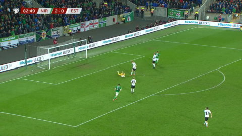 Höjdpunkter: Nordirland tog stabil seger mot Estland