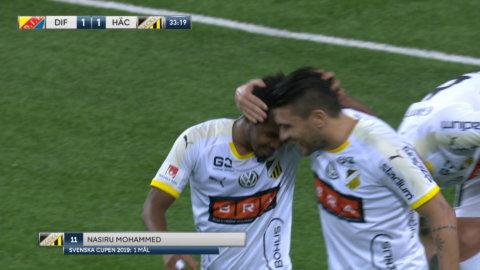 Mohammed stöter in 1-1 mot Djurgården