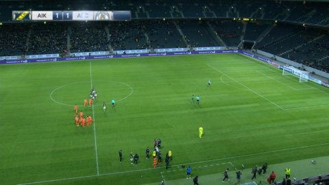 Se hela straffläggningen mellan AIK och AFC