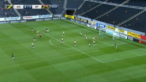 Silva stöter in 2-1 för AIK