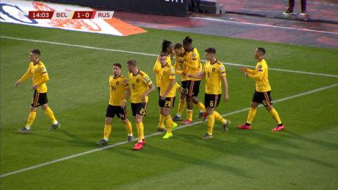 Tielemans rullar in 1-0 för Belgien