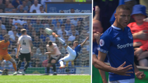 Everton tar ledningen mot United – efter spektakulärt avslut