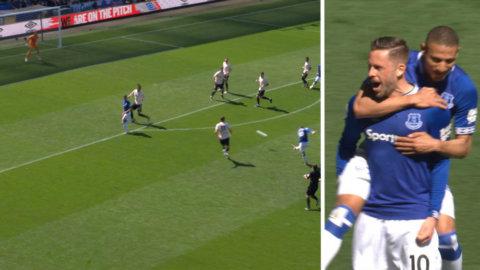 Everton utökar ledningen — efter De Geas tveksamma ingripande