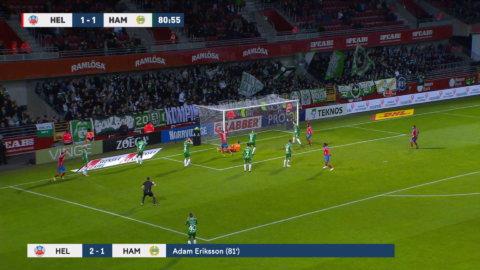 Höjdpunkter: Helsingborg segrade mot Bajen – efter målvaktstavla