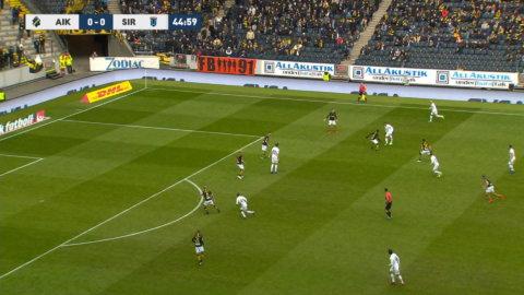 Kalldusch för AIK - Haglund ger Sirius ledningen