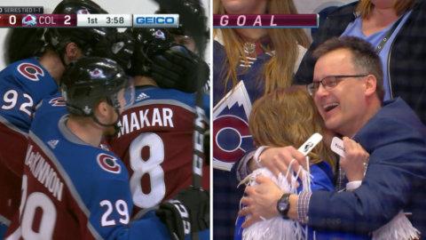 Supertalangen hittade nätet direkt i sin NHL-debut