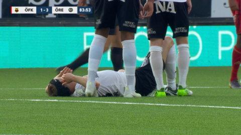 Otäck smäll för ÖSK-back - tvingas bryta