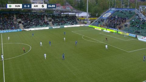 Tidig AIK-ledning - efter Sundsvalls jättebjudning