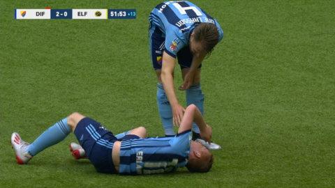 Witry av skadad mot Elfsborg - utburen på bår
