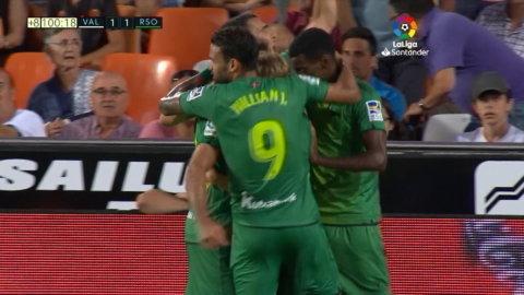 Höjdpunkter: Kryss mellan Valencia och Isaks Real Sociedad – efter straffdramatik på stopptid