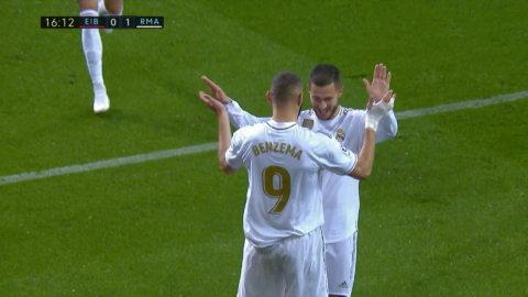Höjdpunkter: Benzema tvåmålskytt när Real Madrid körde över Eibar