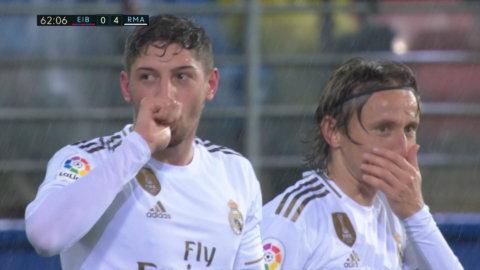 Valverde gör första La Liga-målet i Real-tröjan