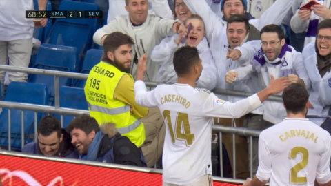 Höjdpunkter: Sevilla föll tungt mot Real Madrid efter Casemiros dubbla mål