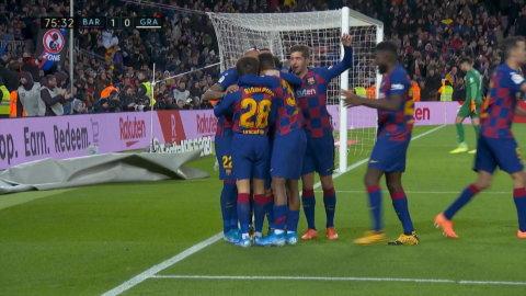Messi ger Barcelona ledningen mot Granada