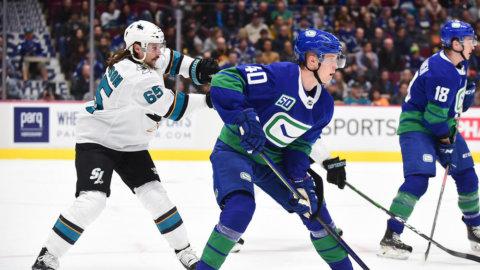 Pettersson med framspelning – när Canucks hemmabesegrade Sharks