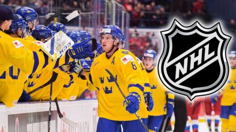 Svensken kallas upp till NHL – efter succén i JVM