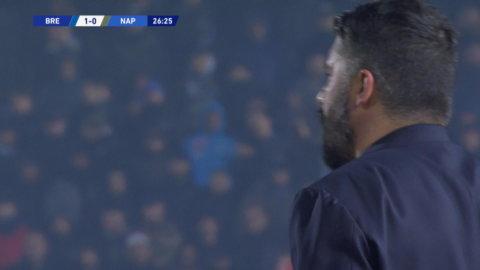 Brescia tar ledningen mot Napoli