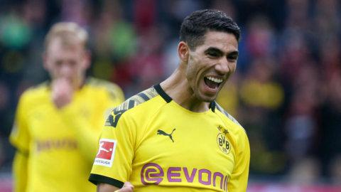 Återblick: Hakimis dubbla fullträffar gav Dortmund segern