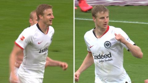 Frankfurt skakar Bayern med två snabba mål