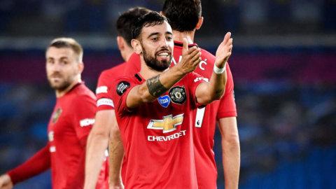 United vann klart mot Brighton - Fernandes med dubbla fullträffar