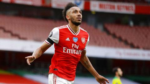 Arsenal vann stort mot Norwich - Aubameyang tvåmålsskytt