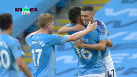 Foden chippar in 3-0 efter läckert samarbete med De Bruyne