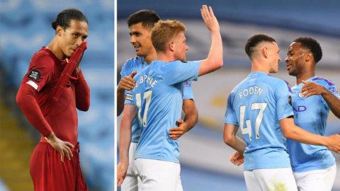 Höjdpunkter: Liverpool utklassat av Manchester City