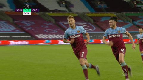Snabb kontring från West Ham - Yarmolenko ger hemmalaget ledningen