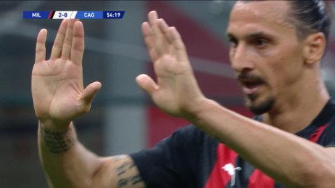 Höjdpunkter: Zlatan med klassmål när Milan besegrade Cagliari
